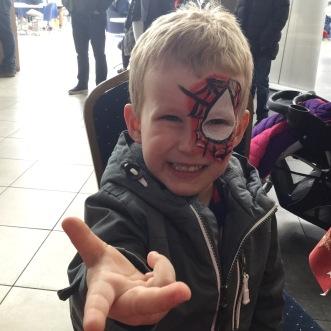 Fantastic spider man very happy